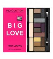 Палетка теней MakeUp Revolution Pro Looks Palette Big Love: фото