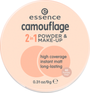 Пудра компактная Camouflage 2 in 1 Powder & Make-up Essence 40 honey beige: фото
