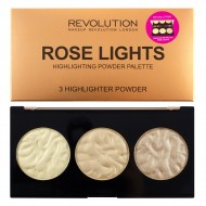 Палетка хайлайтеров Makeup Revolution Rose Lights Highlighter Palette: фото