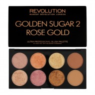 Палетка румян Makeup Revolution Ultra Palette Golden Sugar 2 Rose Gold