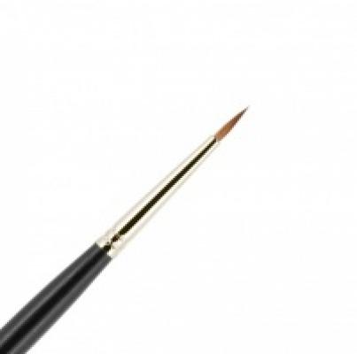 Кисть для подводки из волоса колонка №1 круглая на короткой ручке VALERI-D: фото