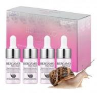 Сыворотка ампульная с муцином улитки для сияния кожи BERGAMO Pure snail brightening ampoule (4 ампулы по 13 мл): фото