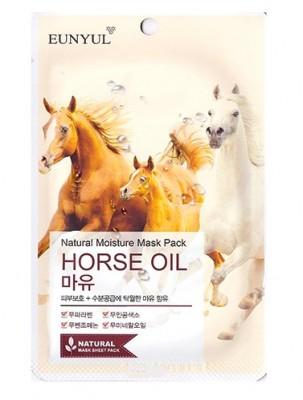 Тканевая маска с лошадиным маслом EUNYUL Natural moisture mask pack horse oil 23мл: фото