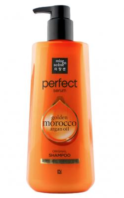 Питательный шампунь для поврежденных волос MISE ENSCENE Perfect Serum Styling Shampoo Golden Morocco Argan Oil 680мл: фото