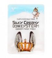Маска с паровым кремом из молока ослиц ELIZAVECCA Silky Creamy Donkey Steam Cream Mask Pack: фото