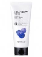 Пена для умывания с черникой TONY MOLY Clean dew blueberry foam cleanser 180 мл: фото