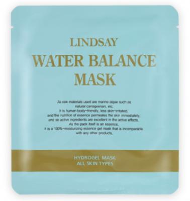 Гидрогелевая увлажняющая маска LINDSAY WaterВalance mask pack 100% gel: фото