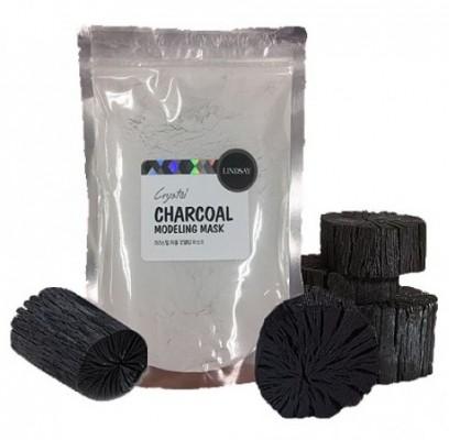Альгинатная маска для лица с активированным углем LINDSAY Premium charcoal modeling mask pack zipper 240г: фото