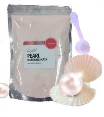 Альгинатная маска для лица с жемчугом LINDSAY Premium pearl modeling mask pack zipper 240 г: фото