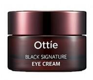Премиальный крем вокруг глаз с муцином черной улитки OTTIE Black Signature Eye Cream 30мл: фото