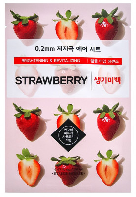 Маска с экстрактом клубники ETUDE HOUSE 0.2 Therapy Air Mask Strawberry 20мл: фото