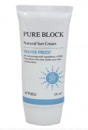 Солнцезащитный водостойкий крем для лица A'PIEU Pure Block Water Proof Natural Sun Cream SPF50: фото