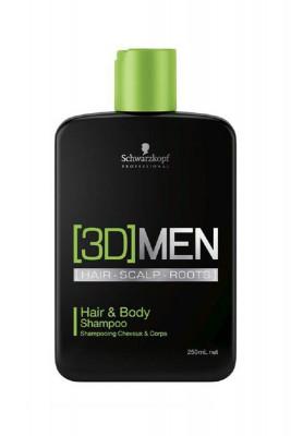 Шампунь для волос и тела Schwarzkopf Professional, [3D]MEN Hair&Body Shampoo 250 мл: фото