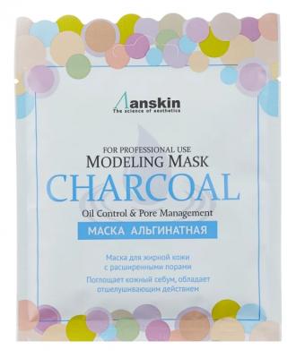 Маска альгинатная для кожи с расширенными порами Anskin Charcoal Modeling Mask 25г: фото