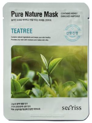 Маска тканевая с чайным деревом Anskin Secriss Pure Nature Mask Pack-Teatree 25мл: фото