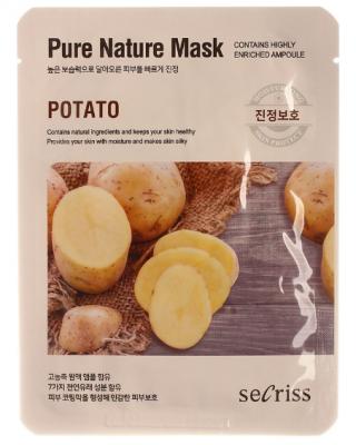 Маска тканевая с картофелем Anskin Secriss Pure Nature Mask Pack-Potato 25мл: фото
