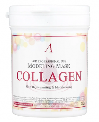 Маска альгинатная с коллагеном укрепляющая Anskin Collagen Modeling Mask 700мл: фото