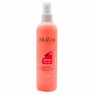 Лосьон для подготовки кожи перед депиляцией с экстрактами мяты и березы Aravia Professional 300 мл: фото