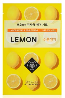 Маска с экстрактом лимона ETUDE HOUSE 0.2 THERAPY AIR MASK LEMON 20мл: фото