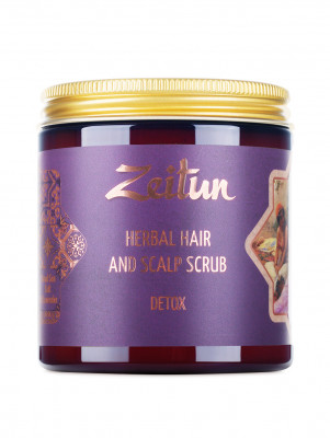 Травяная маска для волос Zeitun «Детокс со скрабирующим эффектом», 250 мл: фото