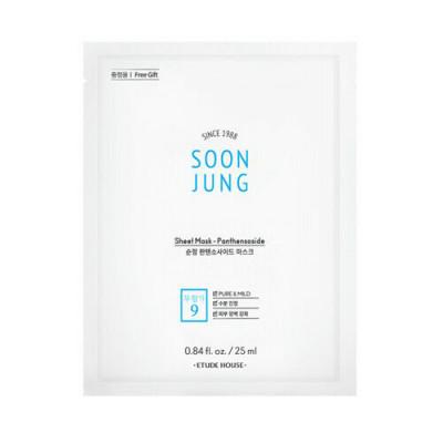 Маска тканевая успокаивающая с пантенсосидом Etude House Soon Jung Sheet Mask Panthensoside 25мл: фото