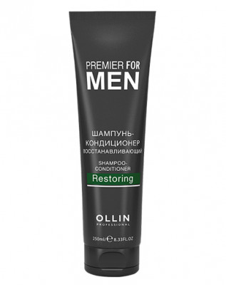 Шампунь-кондиционер восстанавливающий OLLIN PREMIER FOR MEN Shampoo-Conditioner Restoring 250мл: фото