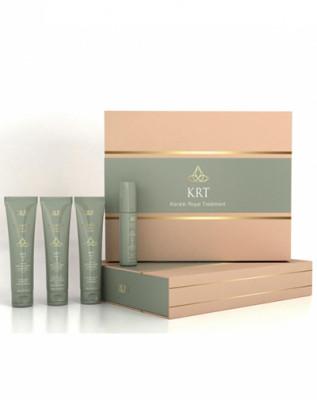 Набор OLLIN Keratine Royal Treatment: шампунь 100мл + бальзам 100мл + сыворотка 100мл + блеск 100мл: фото