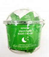 Крем для лица ночной AYOUME ENJOY MINI NIGHT CREAM 3г*30: фото