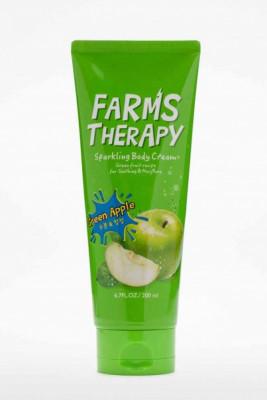 Крем для тела яблоко FARMS THERAPY Sparkling Body Cream Green Apple 200мл: фото