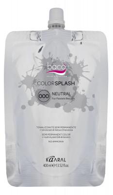 Краска полуперманентная Kaaral Color Splash 000 NEUTRAL нейтральный для создания пастельных тонов 400 мл: фото