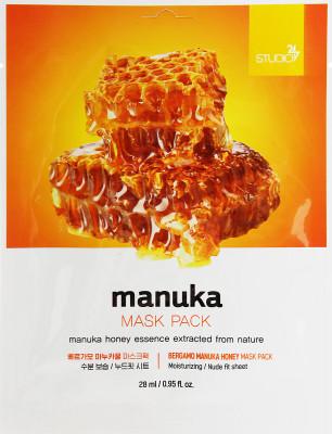 Тканевая маска с экстрактом меда манука BERGAMO Manuka Honey Mask Pack 28мл: фото