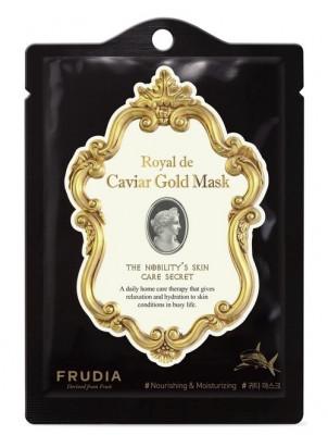 Маска омолаживающая с золотом и экстрактом икры Frudia Royal de Caviar Gold Mask 20 мл: фото