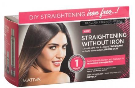 """Набор для выпрямления поврежденных волос с маслом купуасу и кератином Kativa IRON FREE """"Уход"""": фото"""