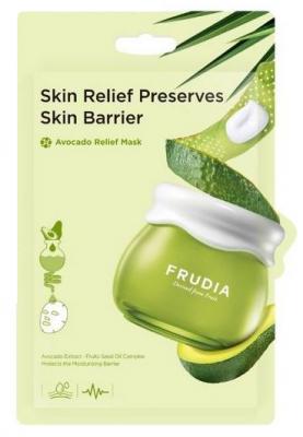 Восстанавливающая тканевая маска с авокадо Frudia Avocado Relief Mask 20 мл: фото