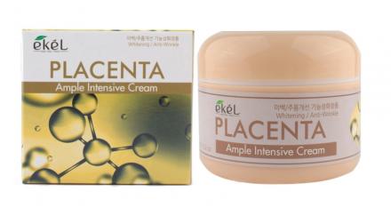 Ампульный крем с экстрактом плаценты EKEL Ample Intensive Cream Placenta 100г: фото