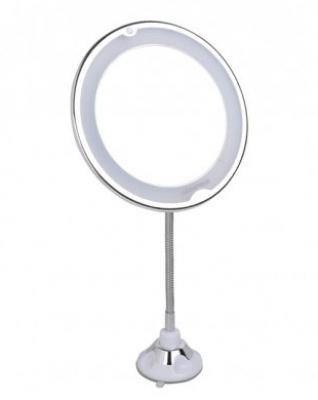 Зеркало косметологическое 10x с подсветкой, на гибкой штанге и присоске LM209 Gezatone: фото