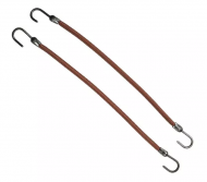 Резинки на крючках EUROSTIL коричневые 12шт: фото