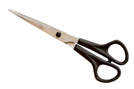 Ножницы парикмахерские прямые, комбинированная ручка Красный металлист Н-040: фото