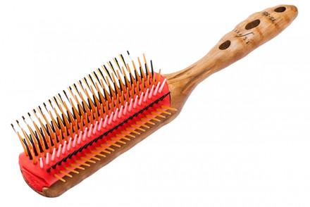 Щетка для волос 7 рядов Y.S.Park Pro Wood Styler бежевая: фото