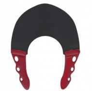 Воротник для стрижки и окрашивания Y.S.PARK 0.3мм, черный с красным: фото