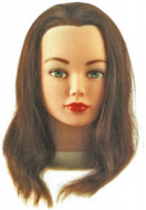"""Голова учебная """"русая"""" Sibel CATHY (натуральными волосами 30-35см): фото"""