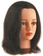 """Голова учебная """"шатенка"""" Sibel BETTY (натуральные волосы, 25-30см): фото"""