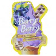 Моделирующая двуступенчатая маска с ароматом ягод U:Lindsay Berry Berry Ice Cream Modeling Mask 50г+5г: фото