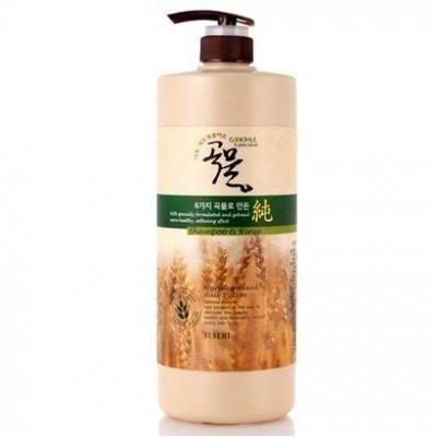 Шампунь-бальзам с зерновыми экстрактами ENOUGH 6 Mixed Cereal Shampoo & Rinse 1000мл: фото