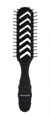 Расческа для сушки и укладки волос профессиональная Vess черная: фото
