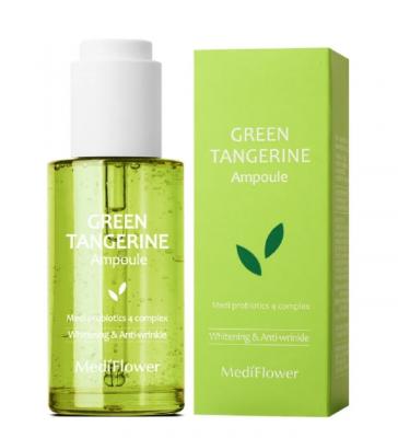 Сыворотка тонизирующая с зелёным мандарином MediFlower Green tangerine ampoule 50мл: фото