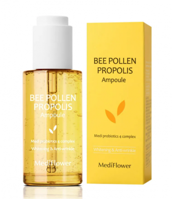 Сыворотка витализирующая с прополисом и пчелиной пыльцой MediFlower Bee pollen propolis 50мл: фото