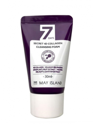 Пенка с коллагеном May Island 7 Days secret 4d collagen cleansing foam 30мл: фото