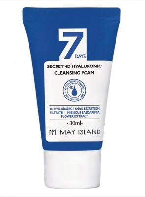 Пенка с гиалуроновой кислотой May Island 7 Days secret 4d hyaluronic cleansing foam 30мл: фото