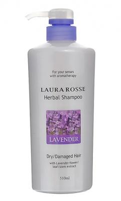 Шампунь для сухих поврежденных волос лаванда Laura Rosse Herbal shampoo lavender 510мл: фото